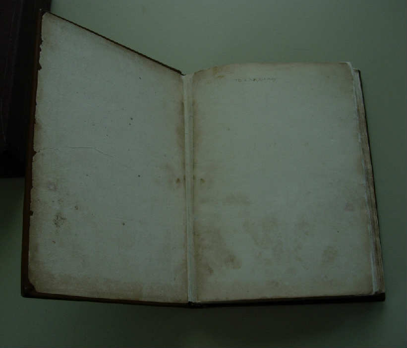 completed binding with washed original endsheet endsheet after teratment