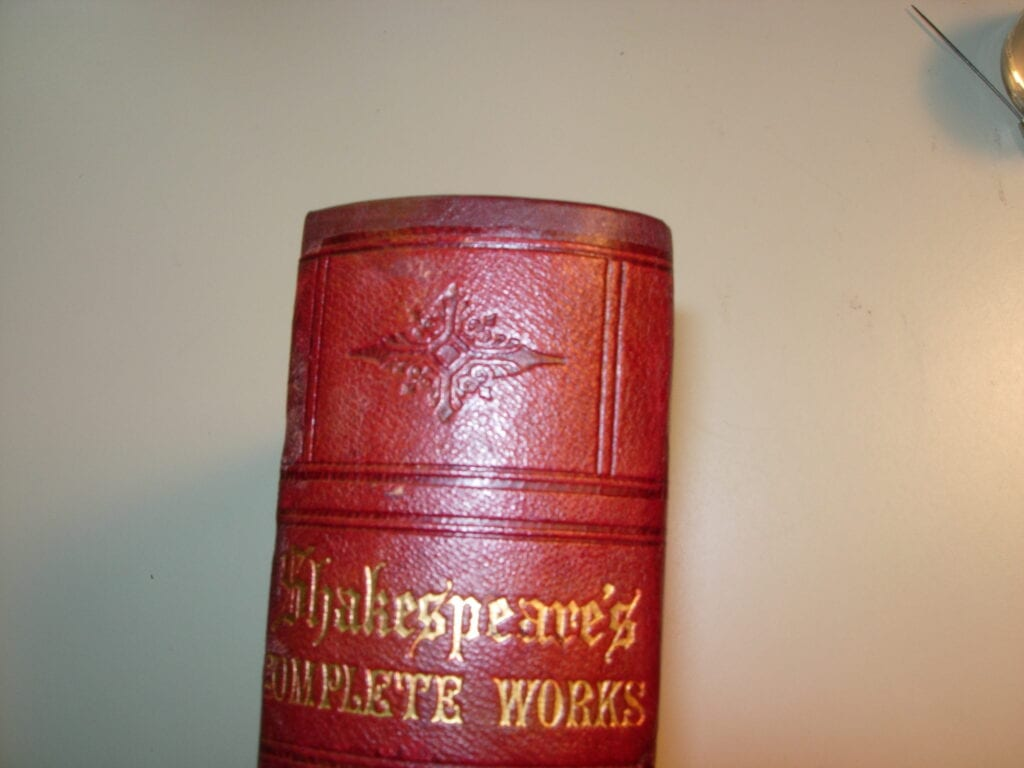 leather bound volume and Japanese paper reback