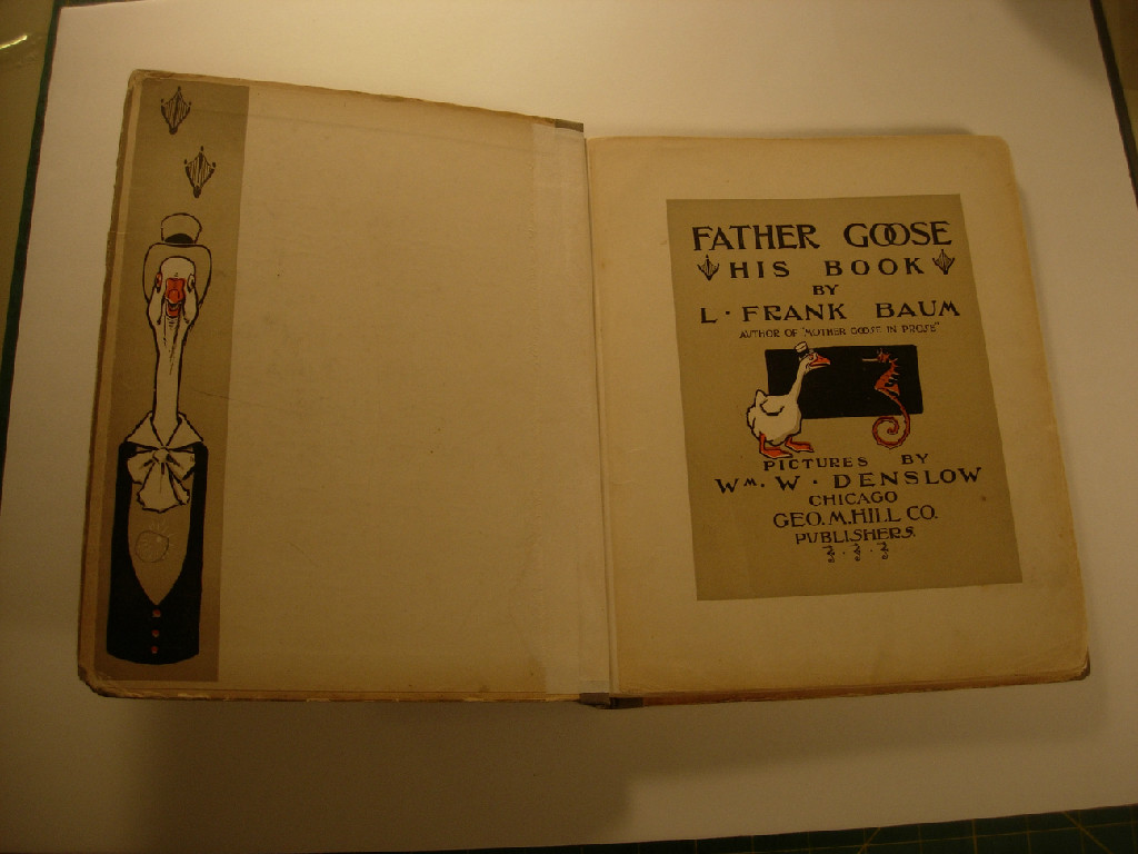 Father Goose Frank L Baum First Edition 1899 after treatment title page