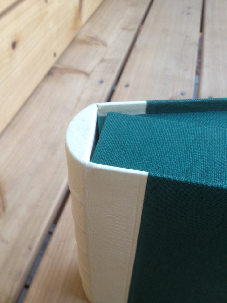custom box with rounded spine detail