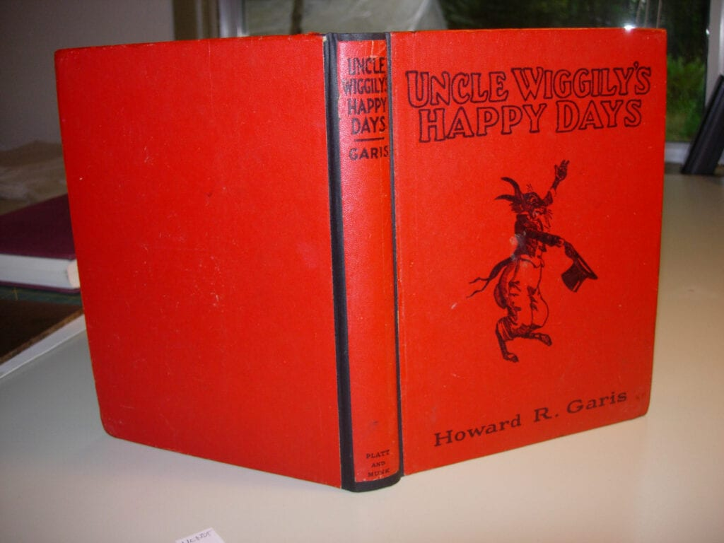 Uncle Wiggily's Happy Days original spine over new cloth spine